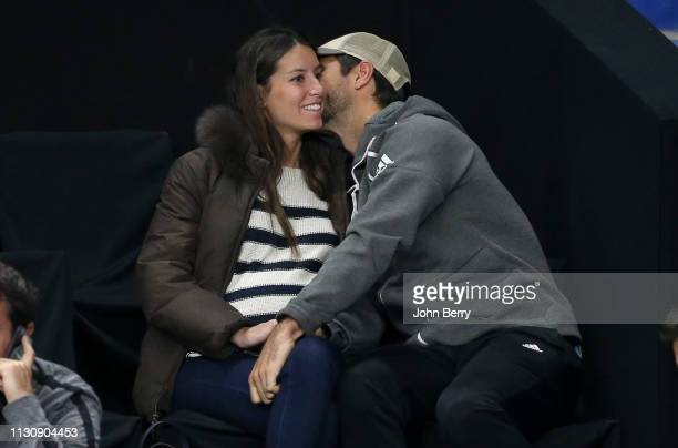 Ana Boyer and Fernando Verdasco are seen attending Tennis Matches at ATP Tournament on February 19 2019 in Marseille France