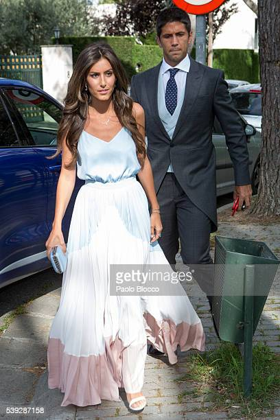 Ana Boyer and Fernando Verdasco attend the wedding ceremony of Sara Verdasco and Juan Carmona on June 10 2016 in Madrid Spain