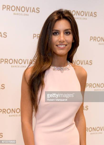 Ana Boyer attends a bridal fitting at the Pronovias Bridal store on April 24 2017 in Barcelona Spain