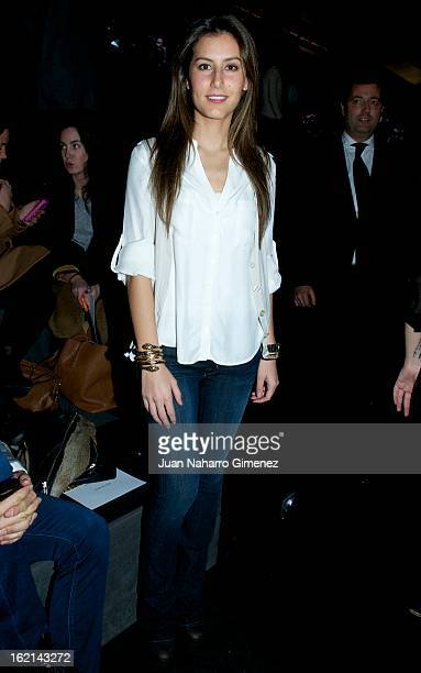 Ana Boyer attends a fashion show during the Mercedes Benz Fashion Week Madrid Fall/Winter 2013/14 at Ifema on February 19 2013 in Madrid Spain