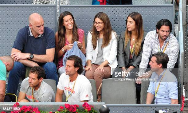 Ana Boyer attends a match during day two of the Mutua Madrid Open tennis tournament at La Caja Magica on May 9 2017 in Madrid Spain