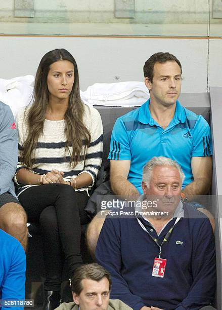 Ana Boyer attends at match of Fernando Verdasco of Spain during day five of the Mutua Madrid Open tennis tournament at La Caja Magica on May 3 2016...