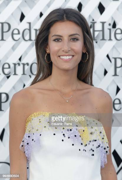 Ana Boyer attends Pedro del Hierro show at Mercedes Benz Fashion Week Madrid Spring/ Summer 2019 on July 8 2018 in Madrid Spain