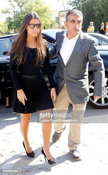 Ana Boyer attends the funeral for Miguel Boyer at San Isidro Graveyard on September 30 2014 in Madrid Spain Spanish politician Miguel Boyer and...