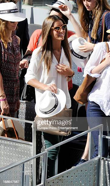 Ana Boyer attends the Mutua Madrid Open tennis tournament at La Caja Magica on May 12 2013 in Madrid Spain