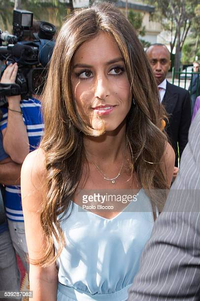 Ana Boyer attends the wedding ceremony of Sara Verdasco and Juan Carmona on June 10 2016 in Madrid Spain
