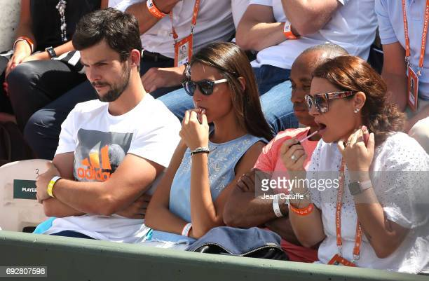 Ana Boyer girlfriend of Fernando Verdasco of Spain on day 9 of the 2017 French Open second Grand Slam of the season at Roland Garros stadium on June...
