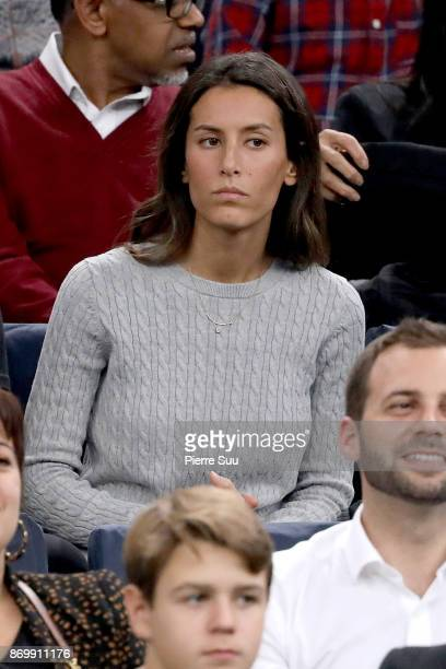 Ana Boyer is seen supporting her fiance Fernando Verdasco during the Rolex Paris Masters at Hotel Accor Arena Bercy on November 3 2017 in Paris France