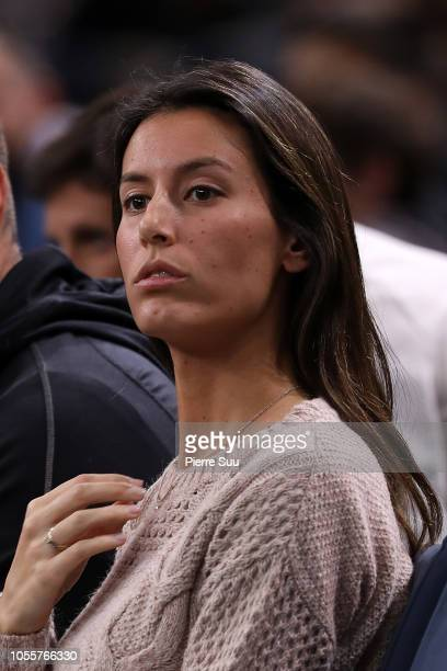 Ana Boyer is seen supporting her husband Fernando Verdasco during the 'Rolex Paris Masters' at Accor Arena on October 31 2018 in Paris France