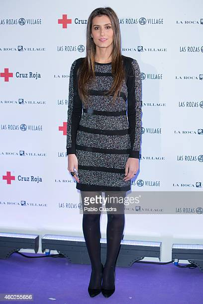 Ana Boyer presents Charity Christmas campaign at Las Rozas Village on December 10 2014 in Madrid Spain