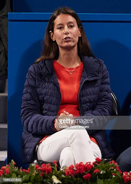 Ana Boyer Preysler attends day three of the ATP Qatar ExxonMobil Open at Khalifa International Tennis and Squash Complex on January 02 2019 in Doha...