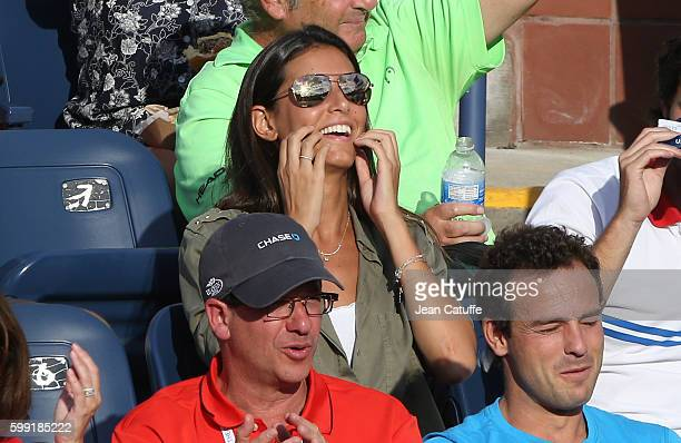 Ana Boyer Preysler attends Fernando Verdasco doubles match on day 6 of the 2016 US Open at USTA Billie Jean King National Tennis Center on September...