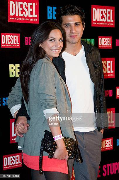 Ana Brenda Contreras and Julio Ramirez at the red carpet of the Diesel Reborn party on December 02 2010 in Mexico City Mexico