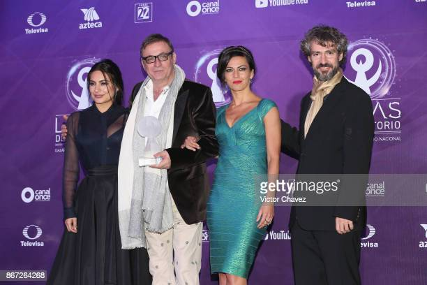 Ana Brenda Contreras and Morris Gilbert attend Las Lunas del Auditorio Nacional 2017 press room at Auditorio Nacional on October 25 2017 in Mexico...