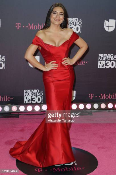 Ana Brenda Contreras attends Univision's 30th Edition Of 'Premio Lo Nuestro A La Musica Latina' at American Airlines Arena on February 22 2018 in...