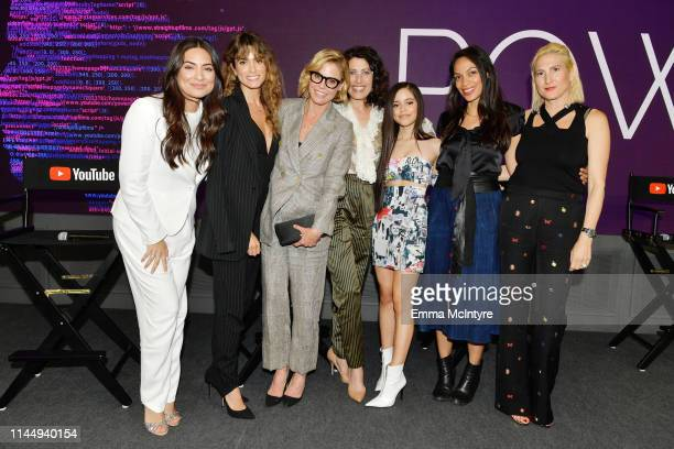 Ana Brenda Contreras, Nikki Reed, Julie Bowen, Lisa Edelstein, Jenna Ortega, Rosario Dawson and Producer Marisa Polvino attend Power On Premiere By...