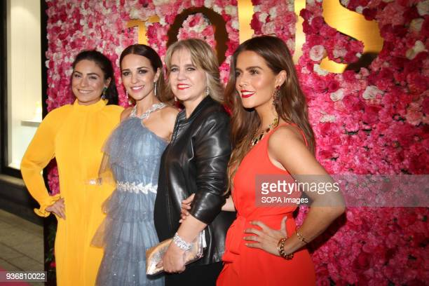 Ana Brenda Contreras Paula Echevarria Rosa Tous and Claudia Alvarez seen arriving at the red carpet of Tous Jewelry