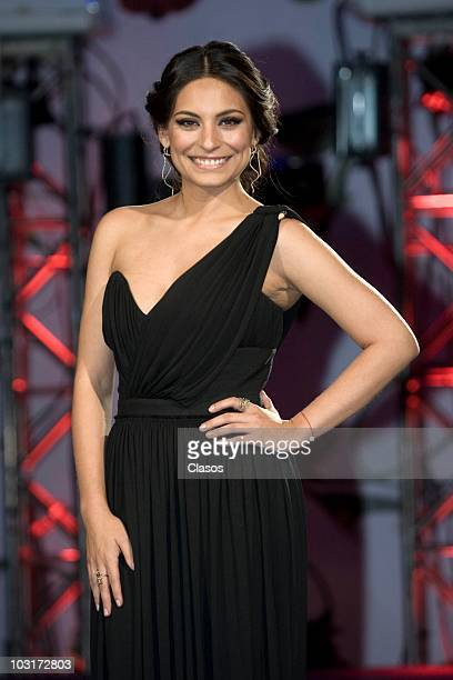 Ana Brenda Contreras poses during the presentation of the new soap opera Teresa at Camino Real Hotel on July 29 2010 in Mexico City Mexico