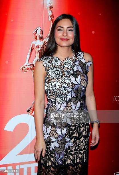 Ana Brenda Contreras poses during the red carpet the 22nd ACPT Awards to the best of Theater on February 28 2017 in Mexico City Mexico