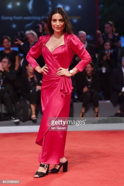 Ana Brenda Contreras walks the red carpet wearing a JaegerLeCoultre watch ahead of the 'Three Billboards Outside Ebbing Missouri' screening during...