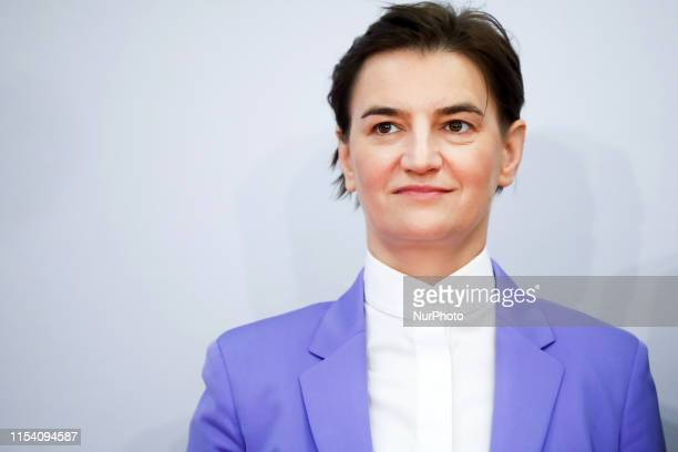 Ana Brnabic Prime Minister of Serbia during Western Balkans Summit at the Poznan International Fair in Poznan Poland on 5 July 2019