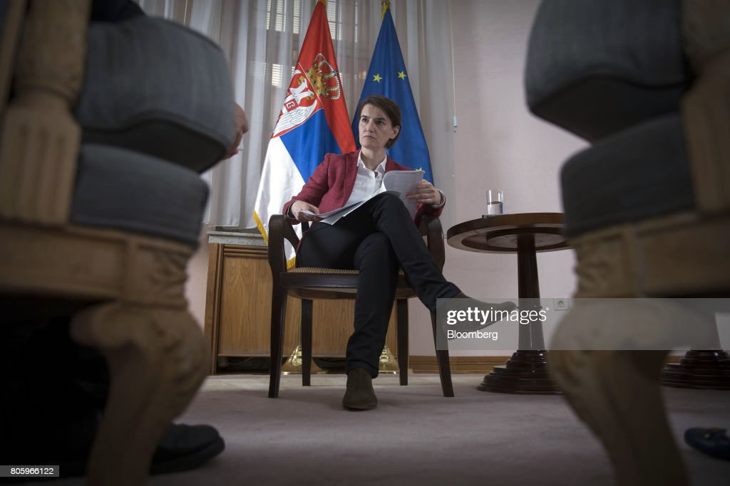 Serbian Prime Minister Ana Brnabic Interview : News Photo