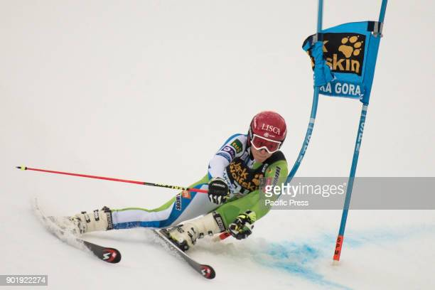 Ana Bucik of Slovenia competes during the Giant Slalom race at the 54th Golden Fox FIS World Cup