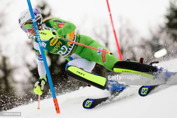 MARIBOR SLOVENIA MARIBOR SLOVENIA Ana Bucik of Slovenia in action during the Audi FIS Alpine Ski World Cup Women's Slalom Golden Fox in Maribor...