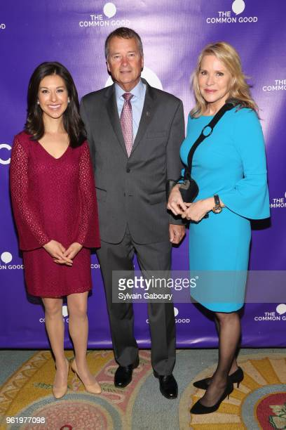 Ana Cabrera James Winnefeld and Patricia Duff attend The Common Good Forum American Spirit Awards 2018 at The Common Good Forum on May 21 2018 in New...