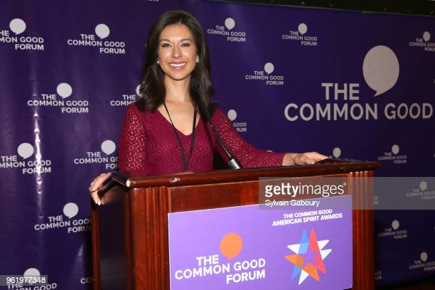 Ana Cabrera speaks at The Common Good Forum American Spirit Awards 2018 at The Common Good Forum on May 21 2018 in New York City Ana Cabrera