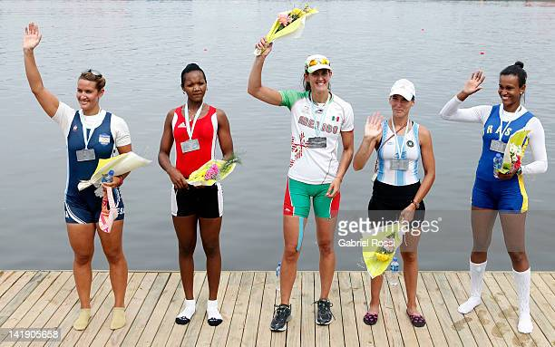 Ana Camila Vargas from El Salvador and Yariulvis Cobas Garcia from Cuba , and Deborah Oakley from Mexico and Lucia Palermo from Argentina and Kissya...