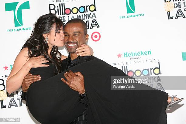 Ana Carolina da fonseca and Alexandre Pires during Billboard Latin Music Conference and Awards 2007 Press Room at Bank United Center in Coral Gables...