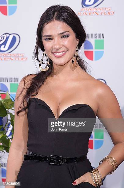 Ana Carolina da Fonseca arrives at Univisions 2009 Premios Juventud Awards at Bank United Center on July 16 2009 in Coral Gables Florida