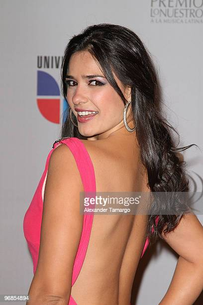 Ana Carolina da Fonseca arrives at Univision's 2010 Premio Lo Nuestro a La Musica Latina Awards at American Airlines Arena on February 18 2010 in...