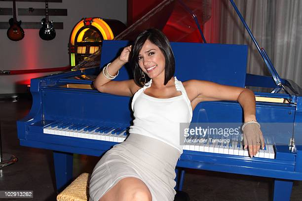 Ana Carolina da Fonseca attends the Diego Torres showcase at Gibson Show Room on July 14 2010 in Miami Florida