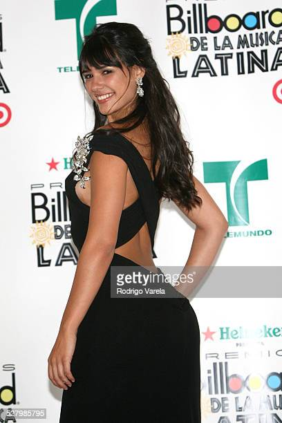 Ana Carolina da fonseca during Billboard Latin Music Conference and Awards 2007 Press Room at Bank United Center in Coral Gables Florida United States