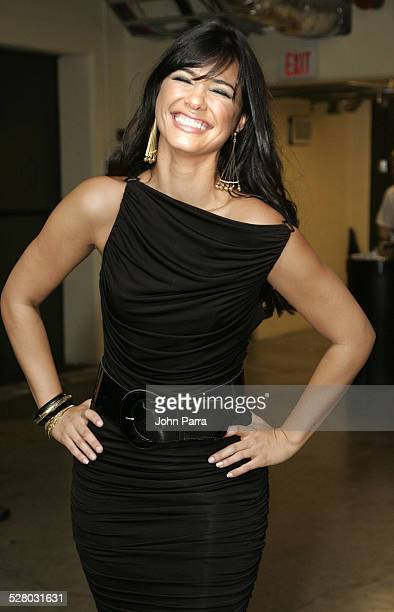 Ana Carolina Da Fonseca during Premio Juventud AwardsBackstage at University of Miami Bankunited Center in Miami Florida United States
