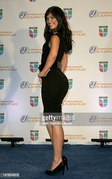Ana Carolina da Fonseca during Univision's Premios Juventud Awards Press Room at University of Miami BankUnited Center in Miami Florida United States
