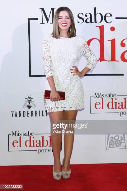 Ana Carolina Grajales attends 'Mas Sabe El Diablo Por Viejo' premiere at Cinemex Antara Polanco on July 19 2018 in Mexico City Mexico
