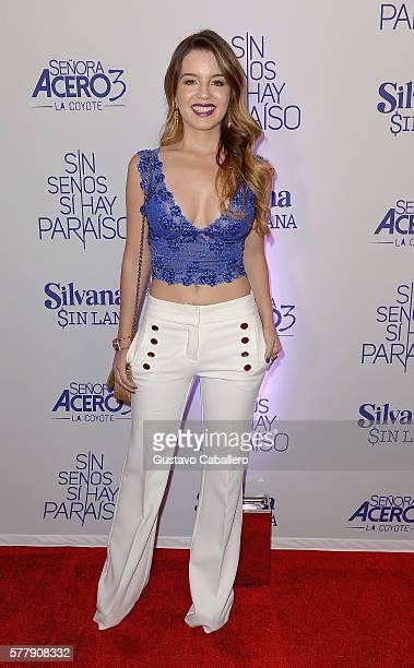 Ana Carolina Grajales attends premiere of new Telemundo productions 'Silvana Sin Lana' 'Sin Senos Si Hay Paraiso' and 'Senora Acero 3 La Coyote' at...