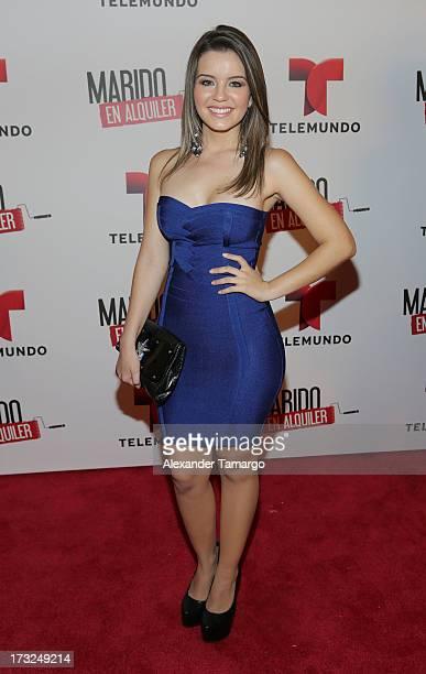 Ana Carolina Grajales attends Telemundo's 'Marido en Alquiler' Presentation at Telemundo Studios on July 10 2013 in Miami Florida