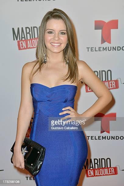 Ana Carolina Grajales attends Telemundos 'Marido en Alquiler' Presentation on July 10 2013 in Miami Florida