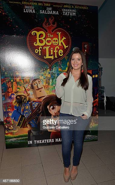 Ana Carolina Grajales attends 'THE BOOK OF LIFE' Red Carpet at Regal South Beach 18 on October 13 2014 in Miami Florida