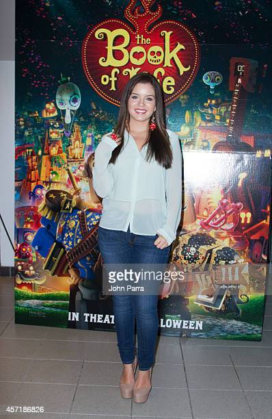 Ana Carolina Grajales attends The Book Of Life red carpet screening at Regal South Beach on October 13 2014 in Miami Florida
