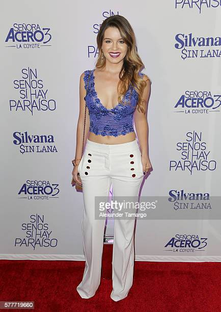 Ana Carolina Grajales is seen attending Telemundo's 'MARTRES' event at the Conrad Hotel on July 19 2016 in Miami Florida