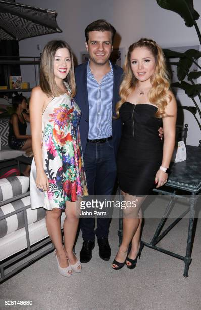 Ana Carolina Grajales Pablo Azar and Sandra Itzel attend the Salud A Forward Food Culinary Celebration in collaboration with The Humane Society of...