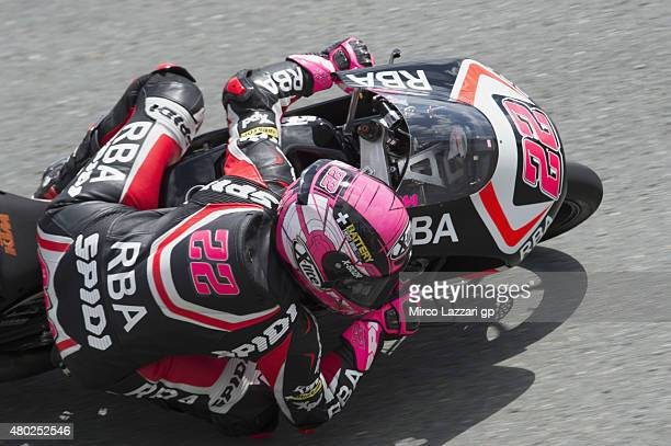 Ana Carrasco of Spain and RBA Racing Team rounds the bend during the MotoGp of Germany Free Practice at Sachsenring Circuit on July 10 2015 in...