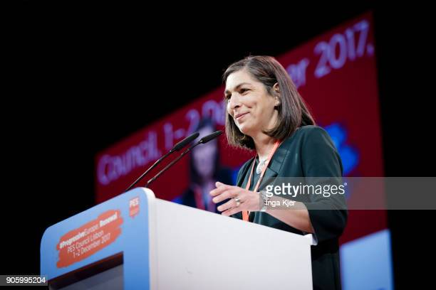 Ana Catarina Mendes Vice General Secretary of Portuguese Social Party in the course of the PES party congress on December 02 2017 in Lisbon Portugal