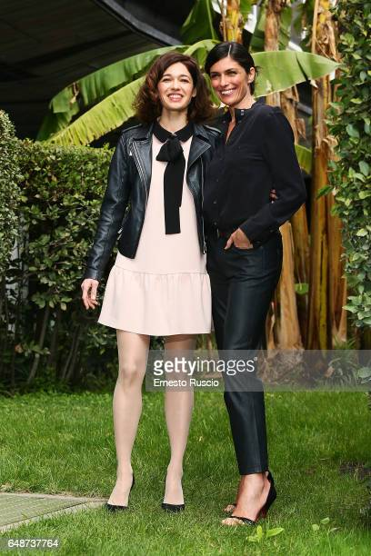 Ana Caterina Morariu and Anna Valle attend a photocall for 'Le Sorelle' at Rai Viale Mazzini on March 6 2017 in Rome Italy