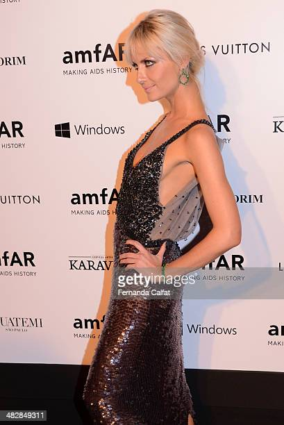 Ana Claudia Michels attends amfAR's Inspiration Gala Sao Paulo on April 4 2014 in Sao Paulo Brazil